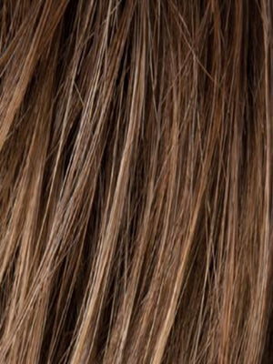 Ellen Wille Wigs | Nougat R | Medium-golden Brown blended with Medium ginger Blondes, with Medium Brown Roots