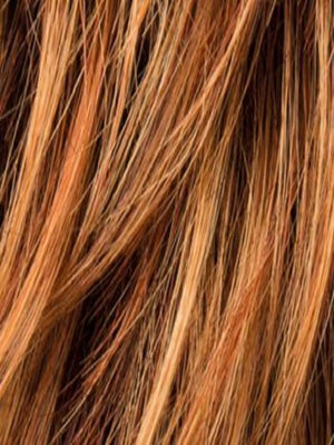 Ellen Wille Wigs | SANFRANRED MIX | Blend of Intense med. Copper, dark rust blonde and dark natural auburn.