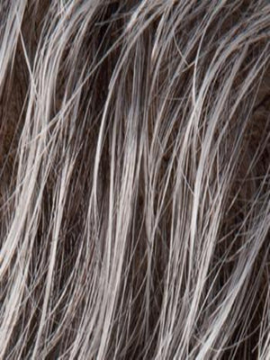 Ellen Wille Wigs | SALT PEPPER ROOTED | Light Natural Brown with 75% Gray, Medium Brown with 70% Gray and Pure White Blend with Brown Roots