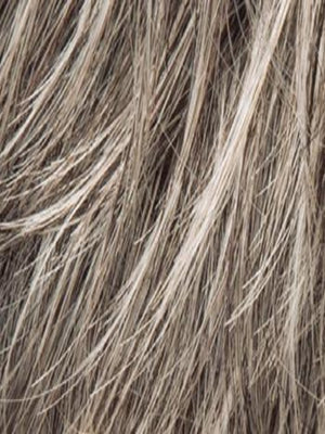 Ellen Wille Wigs | Stone Grey Rooted | Brown-75% gray mixed w/ pure white and Lt Chestnut Brown-25% gray w/ Root
