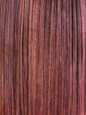 Ellen Wille Wigs | Rosewood R | Medium Dark Brown Roots that Melt into a Mixture of Saddle Brown and Terra-Cotta Tones