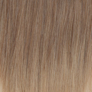 BelleTress Topper | Beach Blonde (140/14)  A blend of honey blonde, light blonde, medium blonde, biscuit brown with the highlight of light champagne blonde