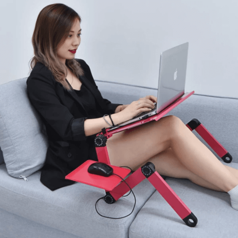 Adjustable Laptop Stand With Dual Cooling Fans - Gadget