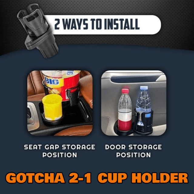 GOTCHA 2-1 CUP HOLDER - Black Carbon fiber - Gadget