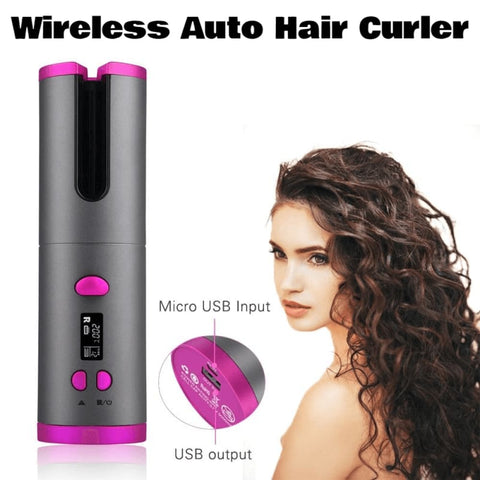 Wireless Auto Hair Curler - Stany Zjednoczone - Gadget