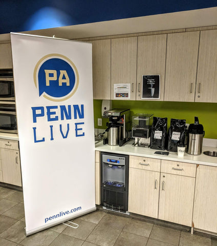 Denim Coffee customer coffee brewing solution for PennLive / PA Media Group