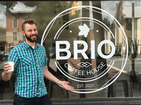 Denim Coffee wholesale partners Brio Coffee, Waynesboro, Pa.