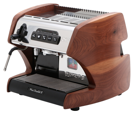 La Spaziale S1 Mini Vivaldi II Espresso Machine - Walnut Wood Side Panels - Denim Coffee Company  - 1