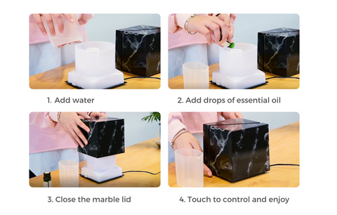 how to use and clean essential oil diffuser