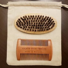 Load image into Gallery viewer, 8412 Bare & Natural 8412 Bare and Natural 8412 Beard Grooming Kit Best Beard Grooming Kit Local Beard Grooming Kit Wood Beard Grooming Kit Wood comb Wooden comb Wooden brush Boar Bristle Brush