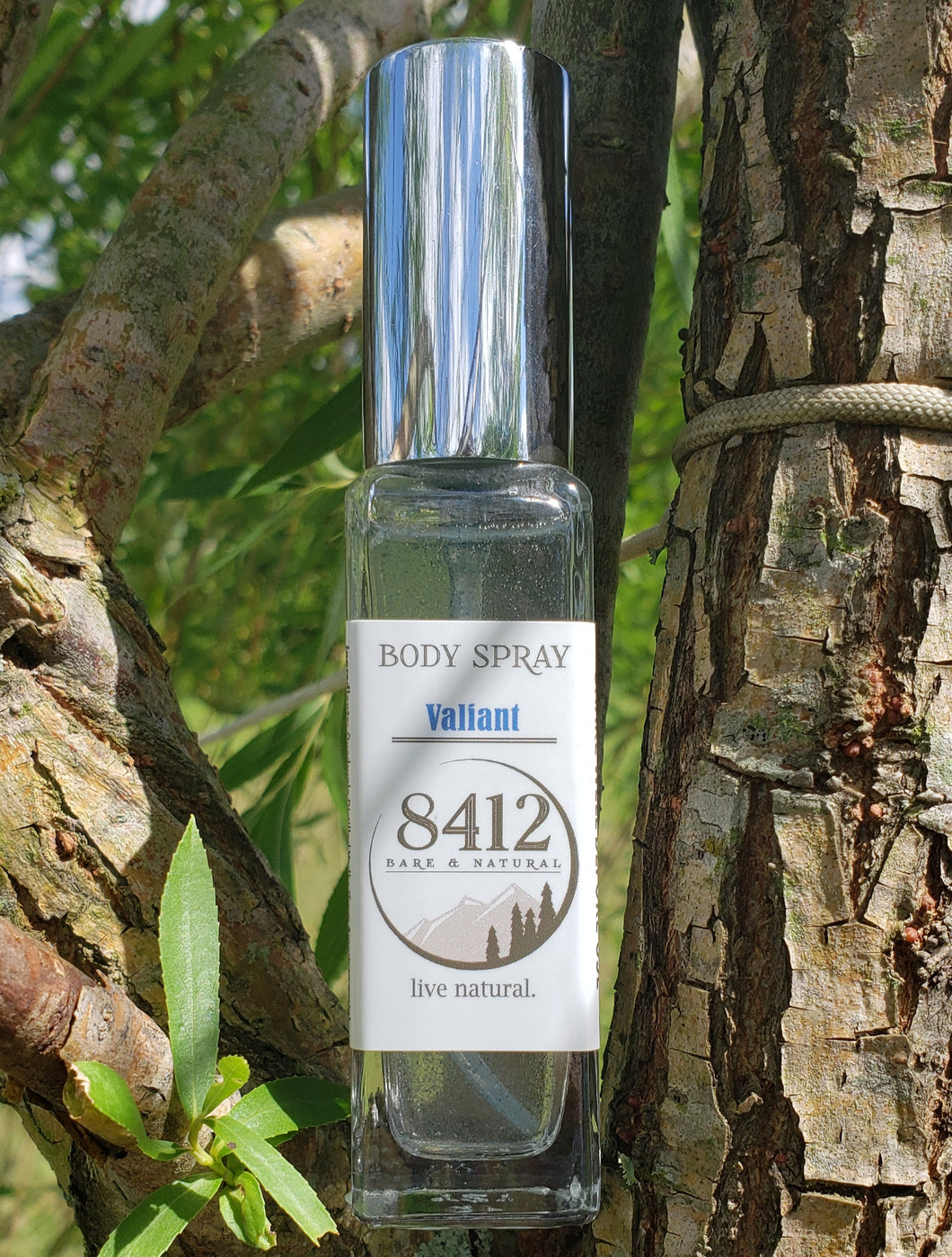 Valiant Body Spray - Base Notes of Black Spruce, Blue Tansy, Geranium and Vanilla