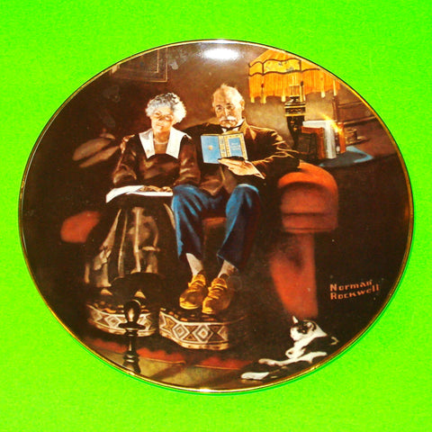 Norman Rockwell Plate - Evening's Ease