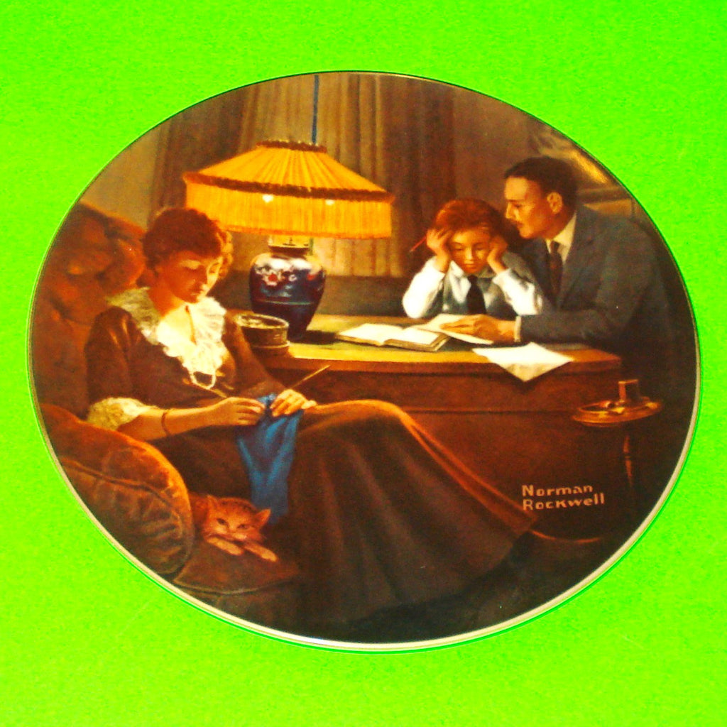 Norman Rockwell Plate - Father's Help