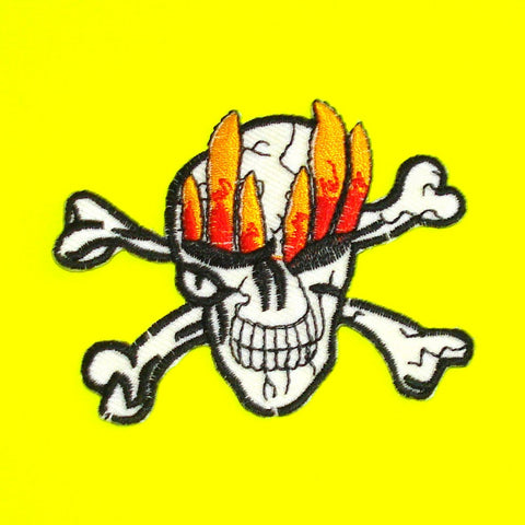 Flaming Eyes Skull Patch