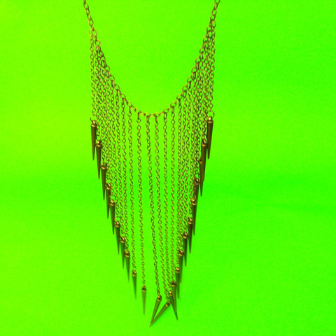 Spiked Waterfall Necklace