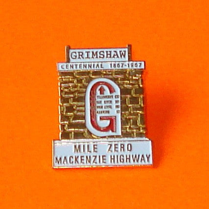 Grimshaw Mile Zero Pin