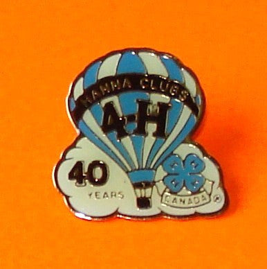 Hanna 4H Hot Air Balloon Pin