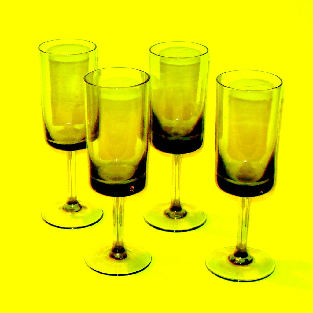Smoky Cordial Glasses - Set of Four