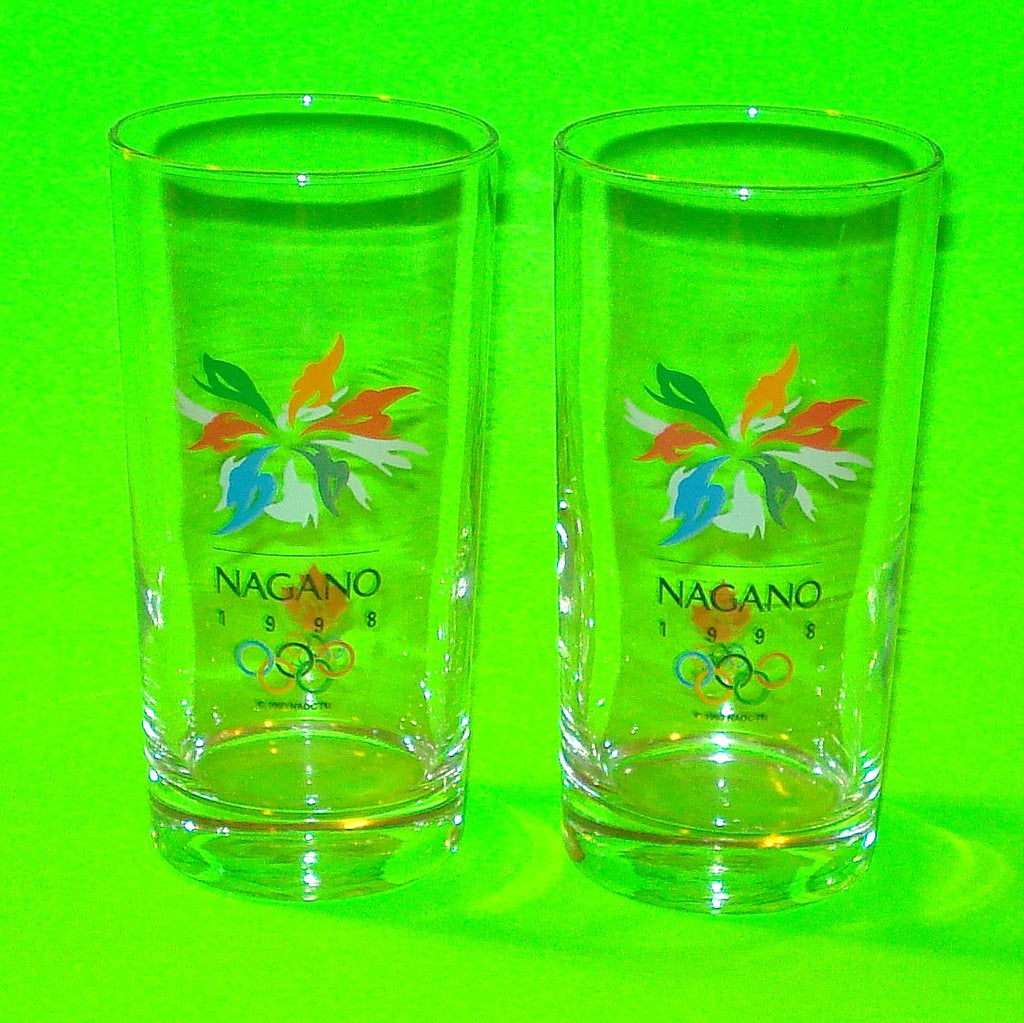 Nagano Olympic Games Glasses - Set of Two