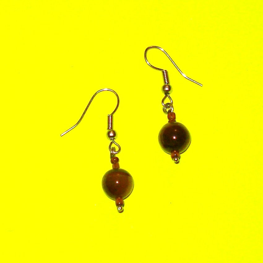 Tigers Eye Drop Earrings