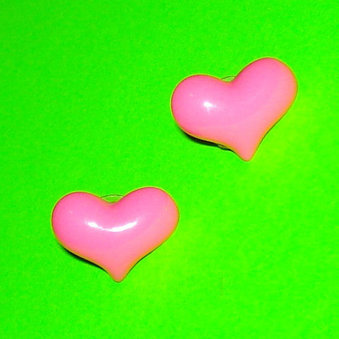 Bubble Heart Post Earrings - More Colours!