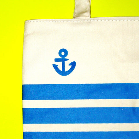 Anchor Striped Tote