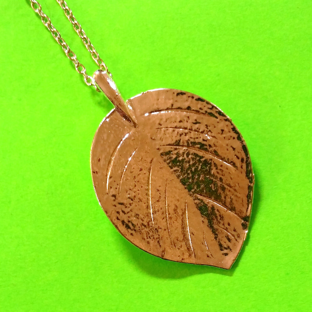 Balsam Poplar Leaf Necklace