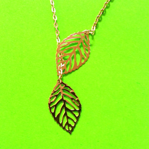 Alberta Wild Rose Leaf Necklace