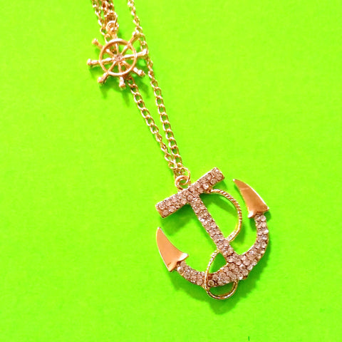 Anchor Bling Necklace