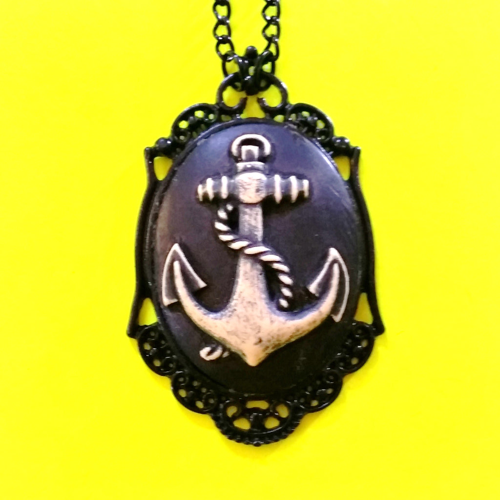 Dark Anchor Necklace