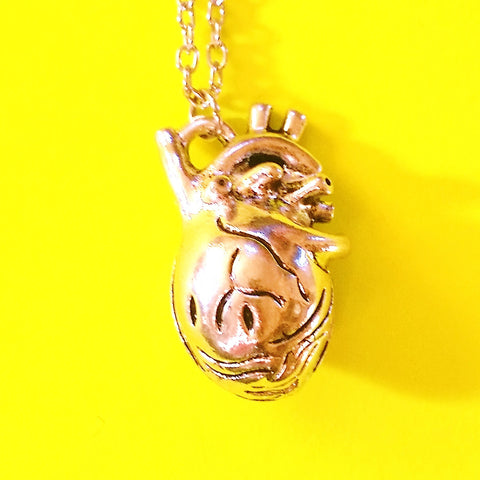 Anatomical Heart Necklace - Silver or Gold