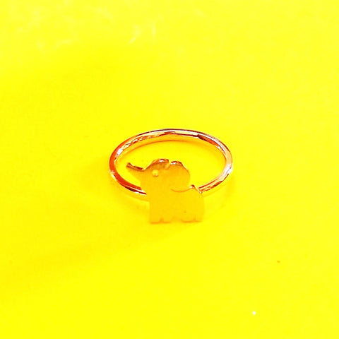 Elephant Ring - Silver or Gold!