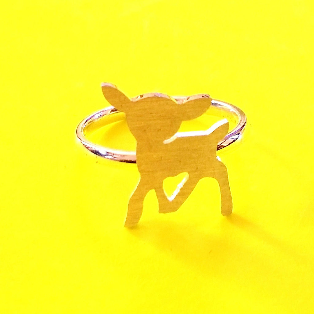 Deer Ring - Silver or Gold!