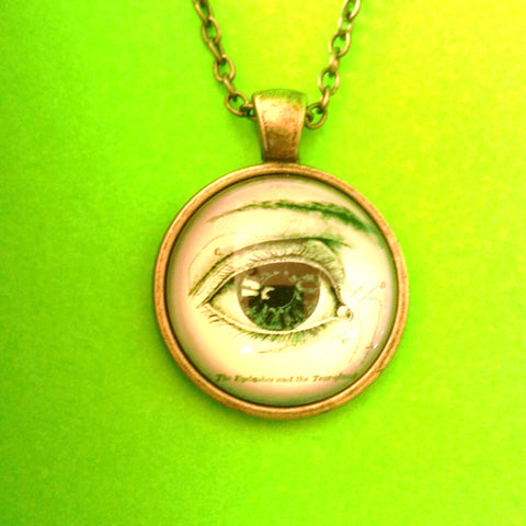 Anatomical Eye Pendant Necklace