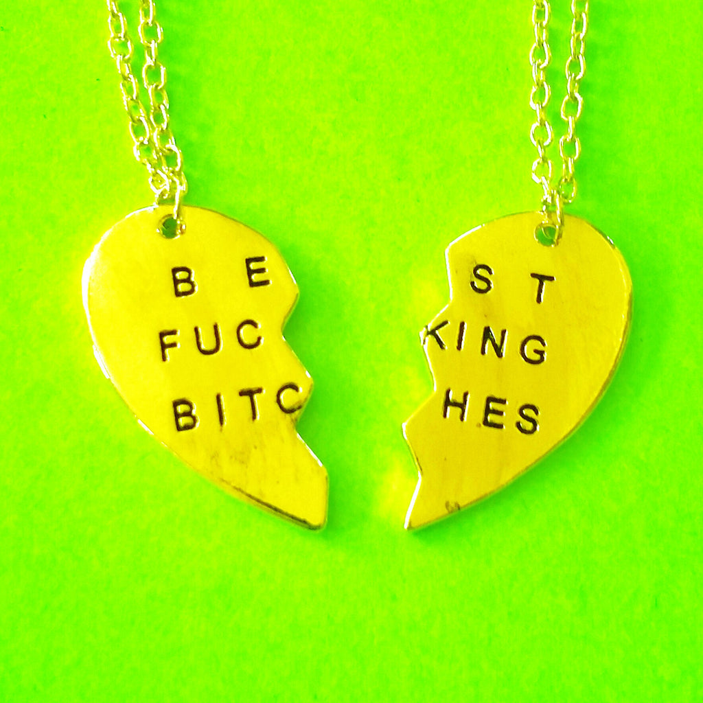 Best Fucking Bitches Two Necklace Set