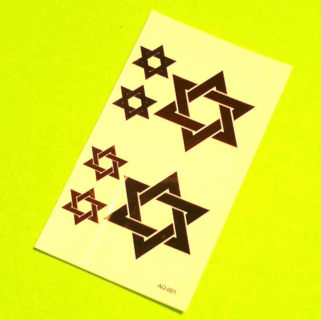 Hexagram Temporary Tattoo