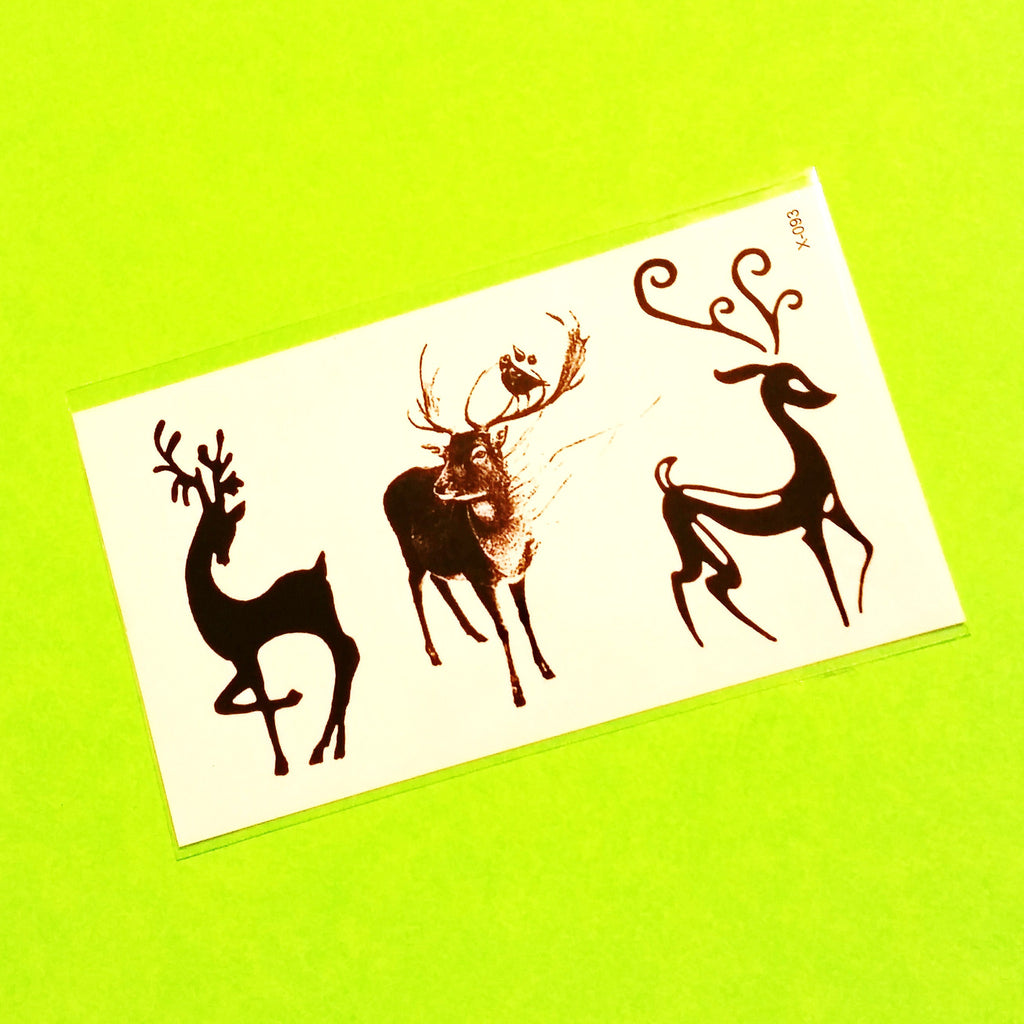 Deer Trio Temporary Tattoo