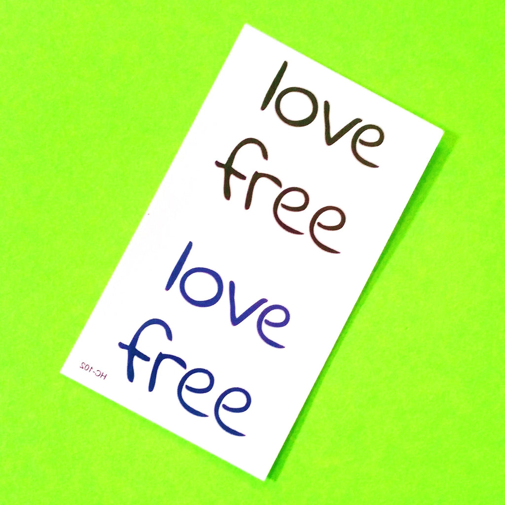Love Free Temporary Tattoo