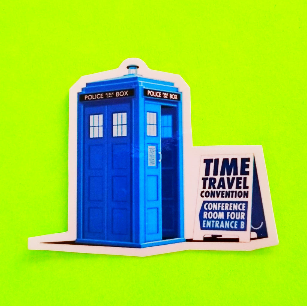 Time Travel Convention Sticker