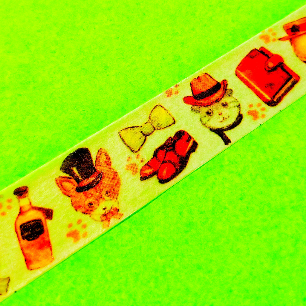 Mysterious Mr. Cat Washi Tape