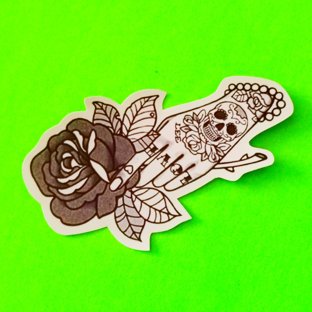 Rose in Hand Sticker