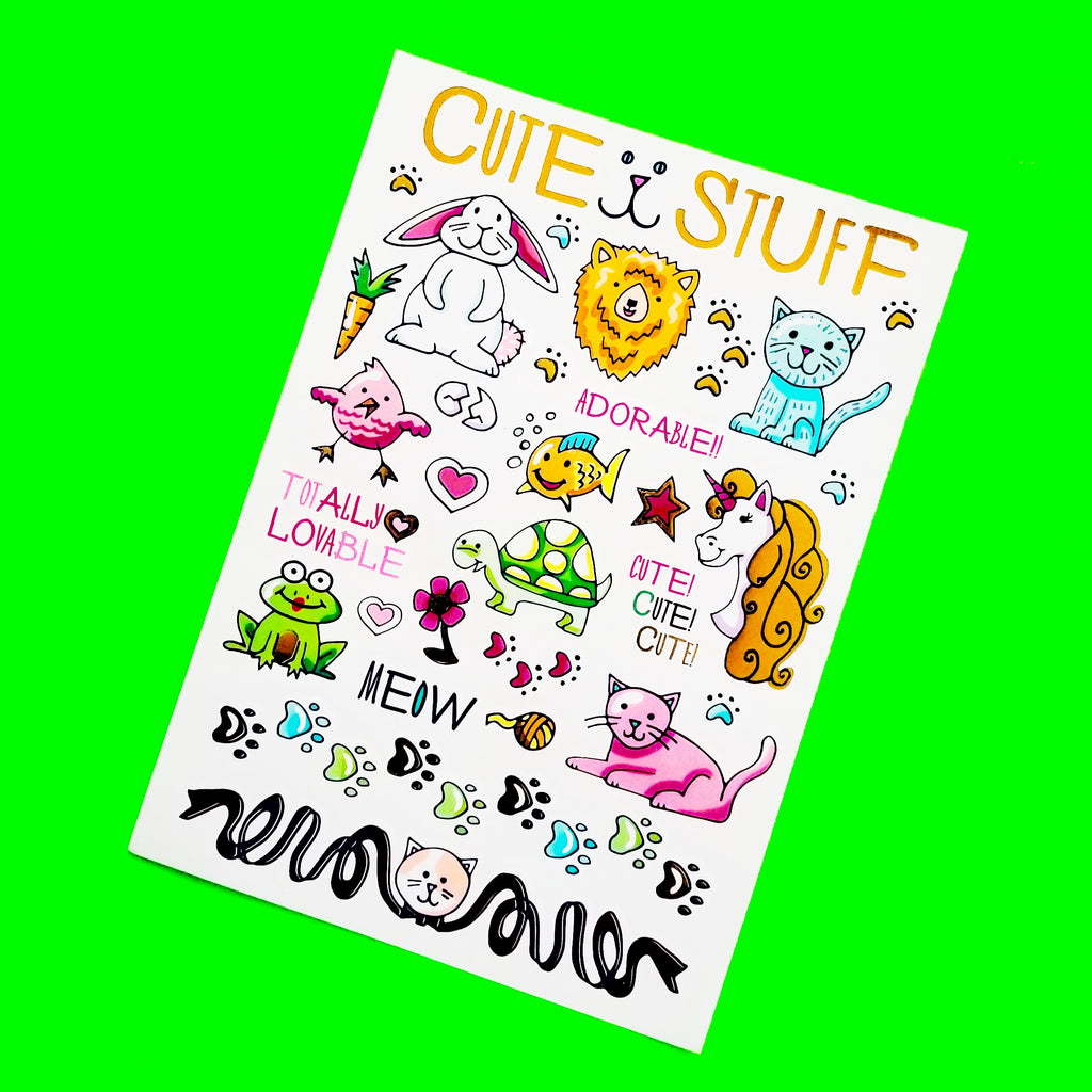 Cute Stuff Metallic Temporary Tattoo