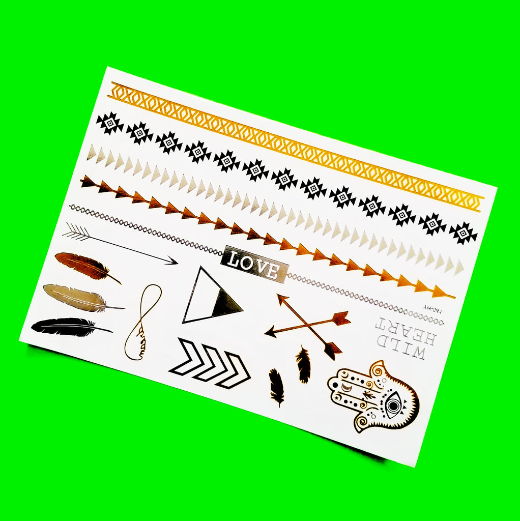 LOVE Metallic Temporary Tattoo