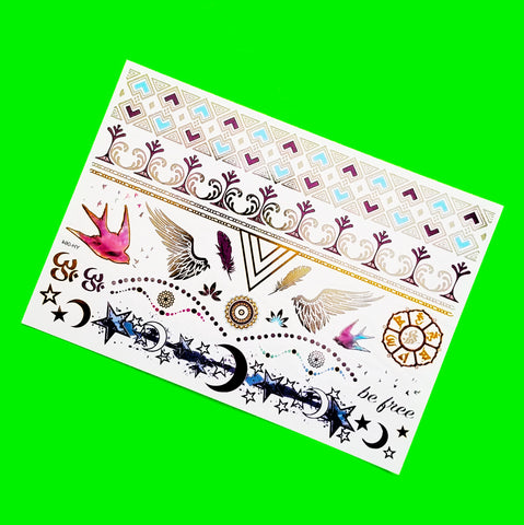 Be Free Metallic Temporary Tattoo
