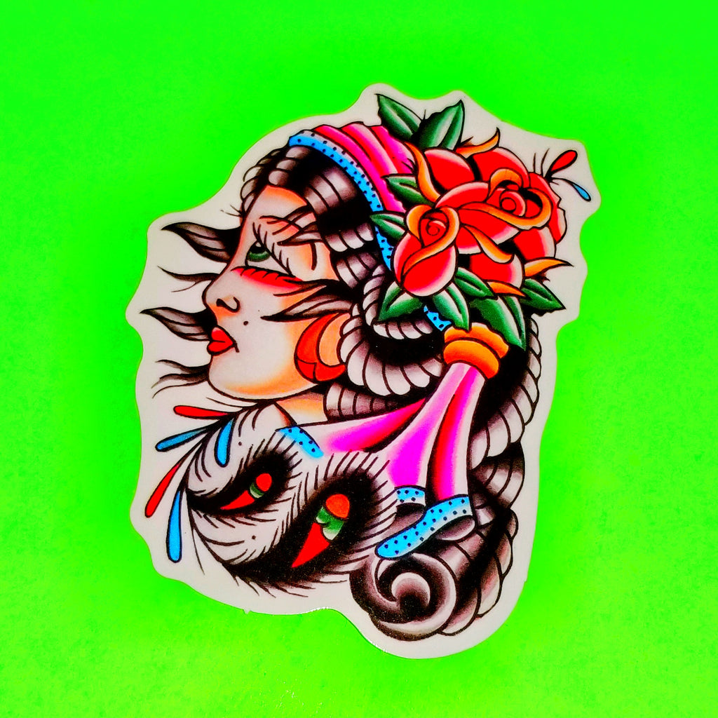 Pinup Tattoo Sticker - More Styles!