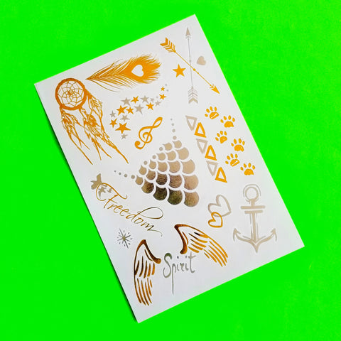 Flash Mix Metallic Temporary Tattoo - More Styles!