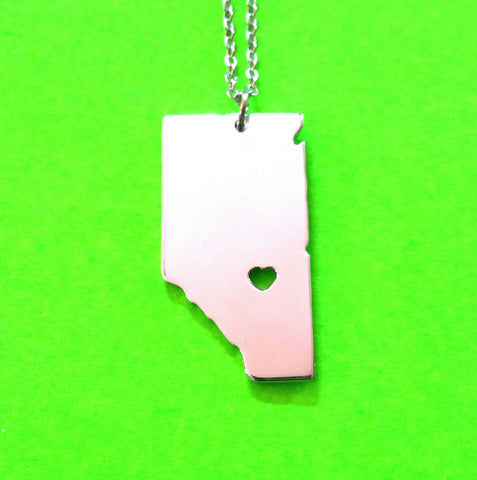 Alberta Strong Necklace - Silver