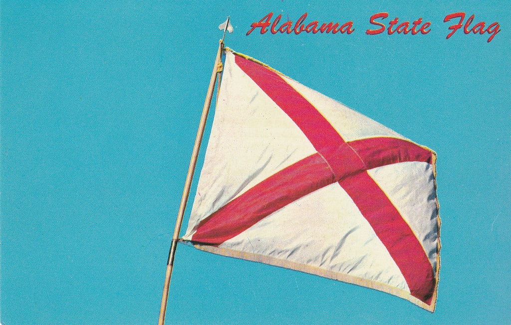 USA - Alabama - State Flag Postcard