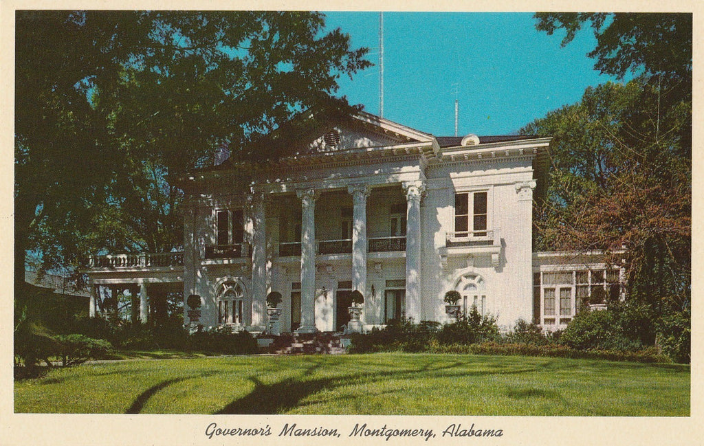 USA - Alabama - Montgomery - Governor's Mansion Postcard