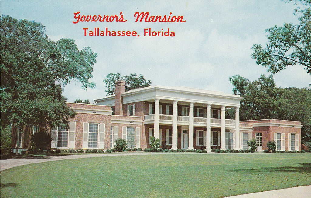 USA - Florida - Tallahassee - Governor's Mansion Postcard